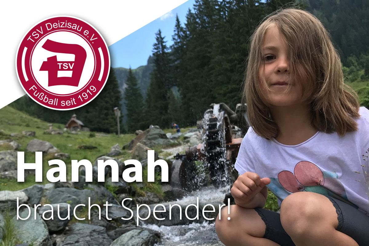 Hannah braucht Stammzellenspender