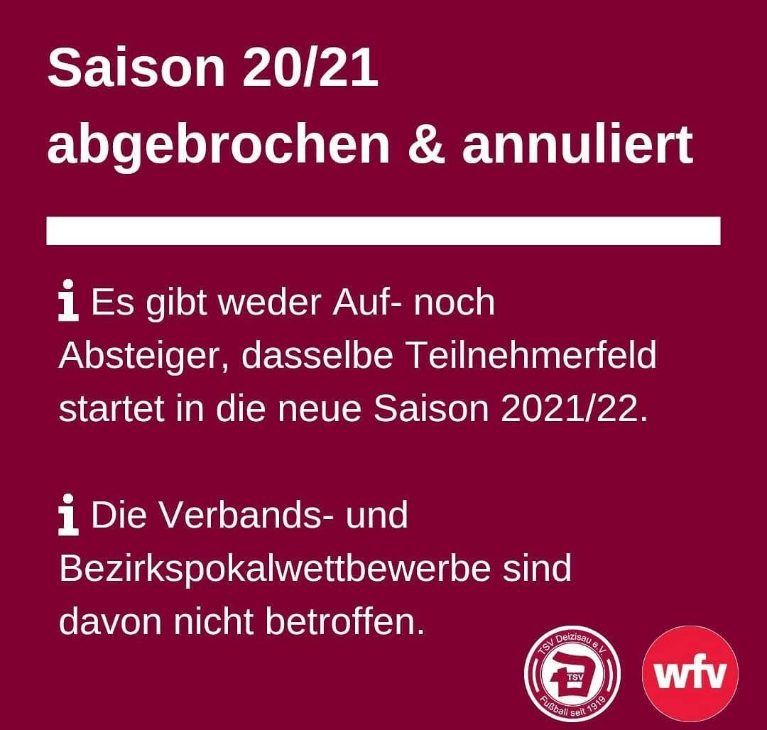 Beendigung und Annullierung der Saison 2020/2021